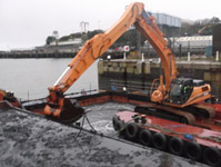 Dredging operations at Millbay