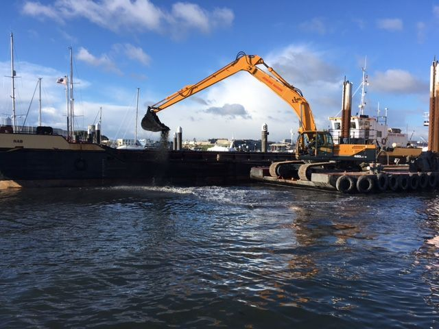 Dredging in plymouth Harbour